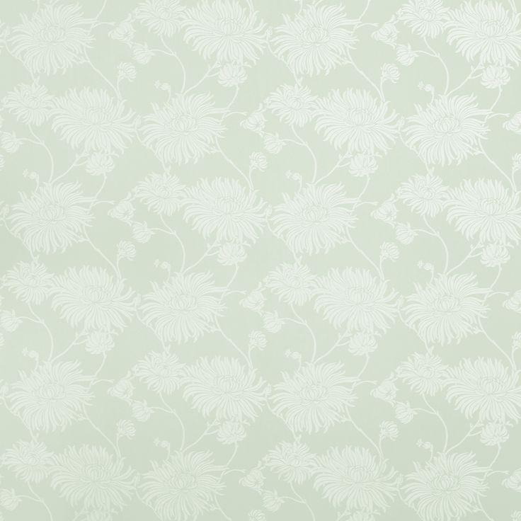 Kimono Eau De Nil Floral Wallpaper