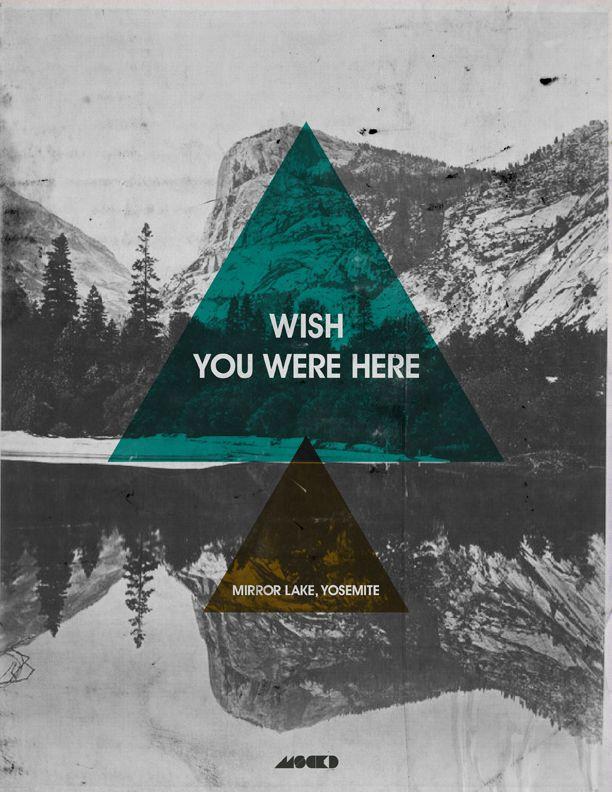 "Postcard. ""Wish you were here."" Mirror Lake Yosemite."