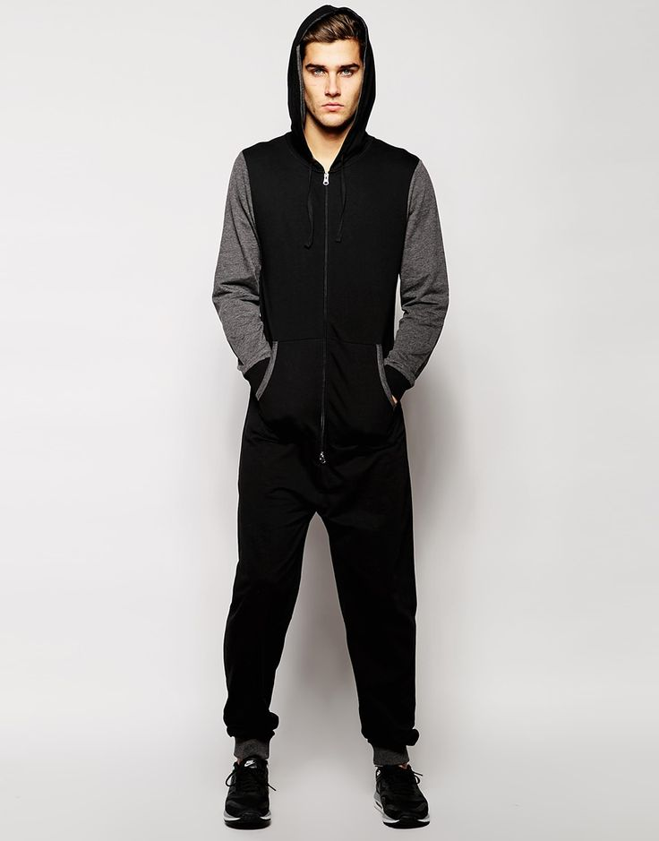 ASOS Onesie With Contrast Sleeve and Ribs