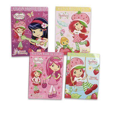 2 Piece 96pg Strawberry Shortcake Coloring Book