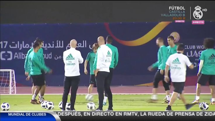 Video Real Madrids final training session before the Club World Cup final!