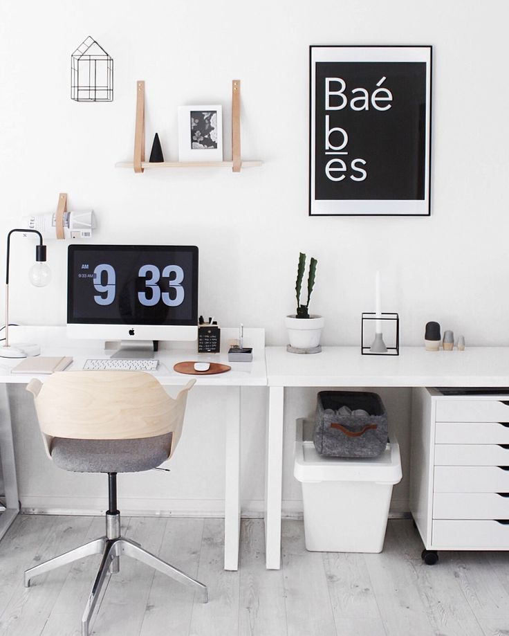 wall office desk. our yorkelee office space scandinavian style workspace inspo using ba wall art print desk