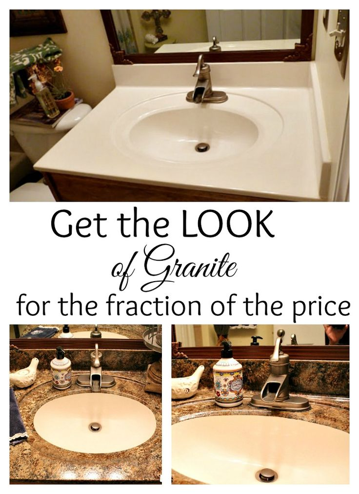 How to paint your countertops to look like #granite for a fraction of the price. #Gianigranite