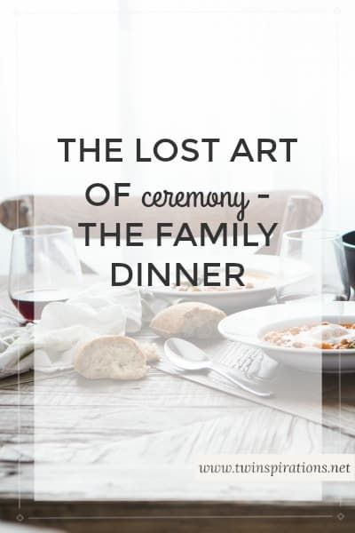 There was once a time when family dinner had a lot more ceremony to them, with more effort put into creating a special time for togetherness and bonding.