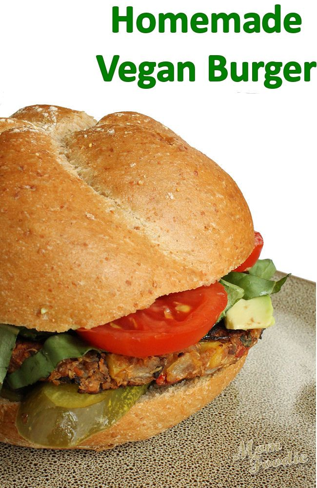 Homemade Gluten-Free Vegan Burger Recipe (gluten-free vegan burger patties) ~ Calories: 148 Fat: 4 Carbohydrates: 22 Fiber: 7 Protein: 7