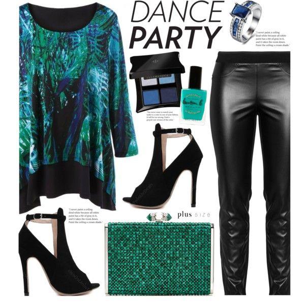 Dance Party! (plus size fashion) by beebeely-look on Polyvore featuring moda, Elena Mirò, Judith Leiber, Illamasqua, Lauren B. Beauty, NewYears, plussize, danceparty, plussizefashion and twinkledeals