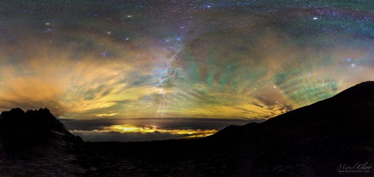Rainbow Bands of Airglow in Gravity Waves above Pico Island Were seen from NOAA/NASA Satellite in Space @ Astrophotography by Miguel Claro | Official website from a renowned astrophotographer dedicated to Art Science Photography | Workshops | Books | Public Talks | Fine Art Prints