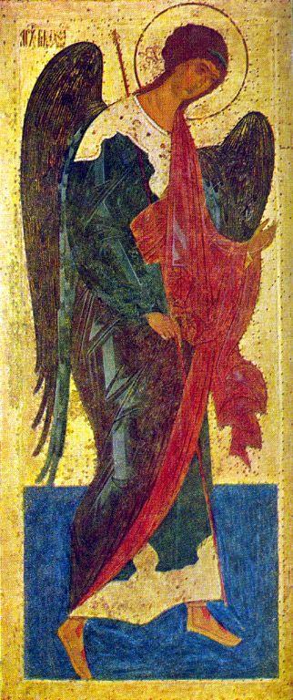 Архангел Михаил. Из деисусного чина Ферапонтова монастыря. 1502. Государственная Третьяковская галерея