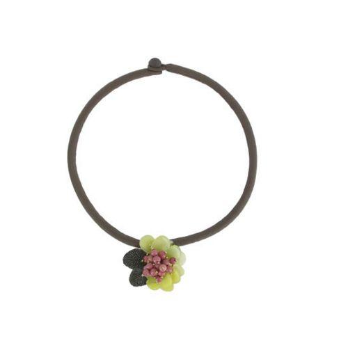 Joli #collier ou #broche en pierre de #jade rose et verte en forme de #fleur Prix 285 euros TTC