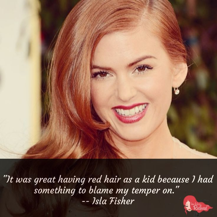 Isla Fisher Quote. #redhead #quote