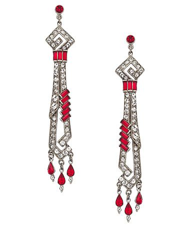 Ben-Amun Ruby Linear Deco Earrings #maxandchloe