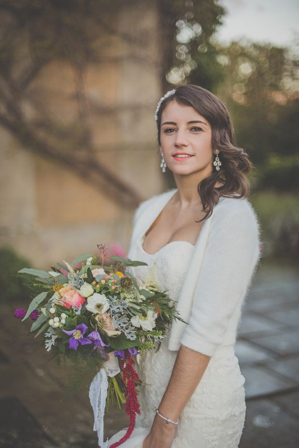 Soft wool cardigan in white for this lovely bride.  http://www.michellelindsell.com/
