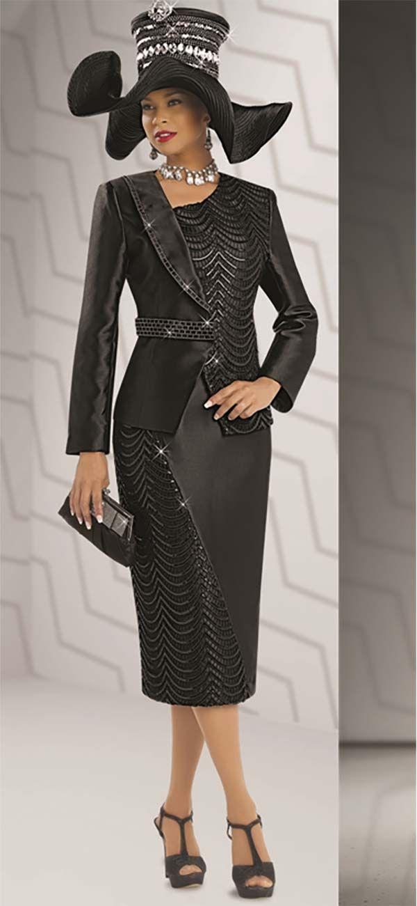 Donna Vinci 5528 Womens Lace & Sequin Suit