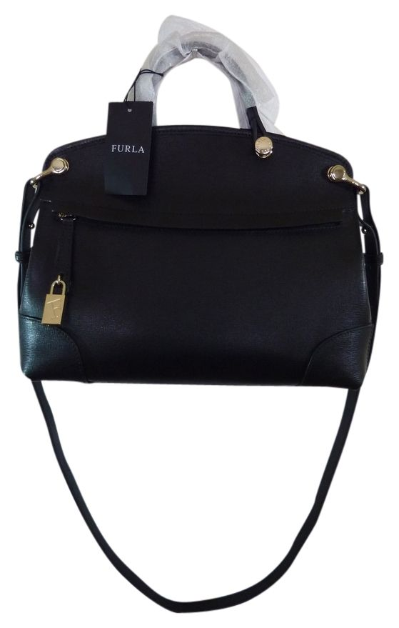 Furla Saffiano Leather Piper Petite Black Satchel. Save 7% on the Furla Saffiano Leather Piper Petite Black Satchel! This satchel is a top 10 member favorite on Tradesy. See how much you can save