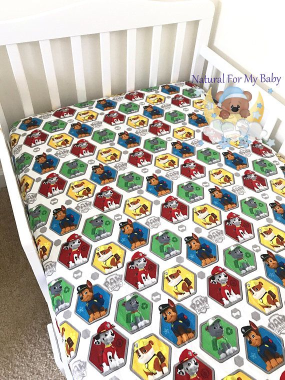 Cotton Disney Paw Patrol Rescue Fitted Crib Sheet Toddler