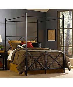 @Overstock.com - Excel Queen-size Canopy Bed - Blends traditional design with contemporary elegance Constructed of a sturdy powdercoated tubular steel frame Highlighted by a stylish black matte finish     http://www.overstock.com/Home-Garden/Excel-Queen-size-Canopy-Bed/2039800/product.html?CID=214117  $279.99