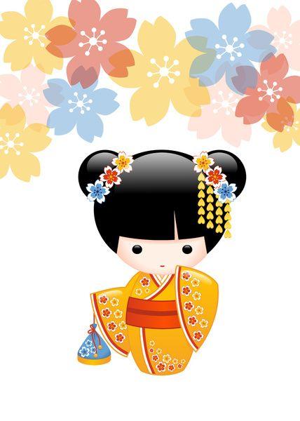 Summer Kokeshi Doll Art Print by Chibibi | Society6