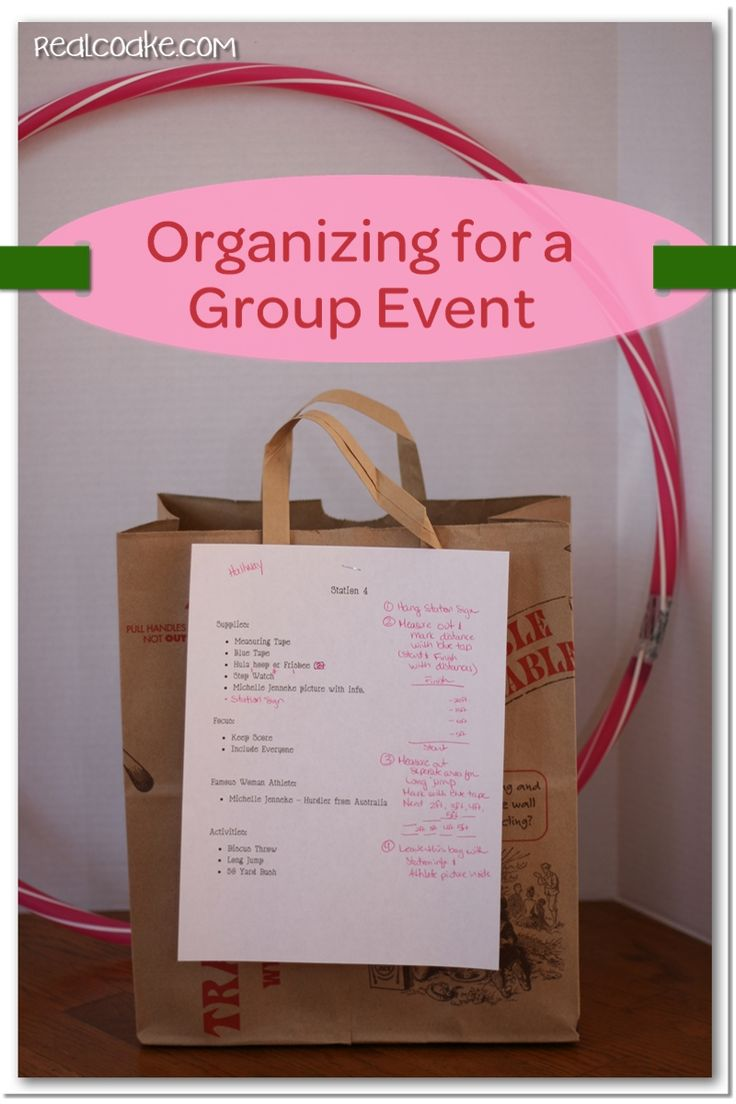 Event organization ideas and tips for easy set up of a large group event #girlscouts #event #organization #RealCoake