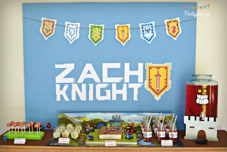 Check out this coolLego Knights Party Birthday Party! The backdrop is so much fun!! See more party ideas and share yours at CatchMyParty.com