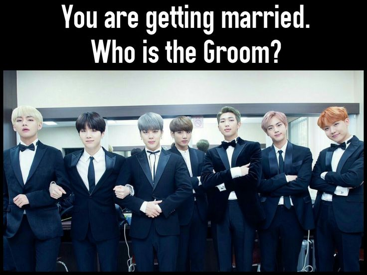 BTS Grooms! They either all marry me! Or they all marry each other! Hahaha ❤ #BTS #방탄소년단