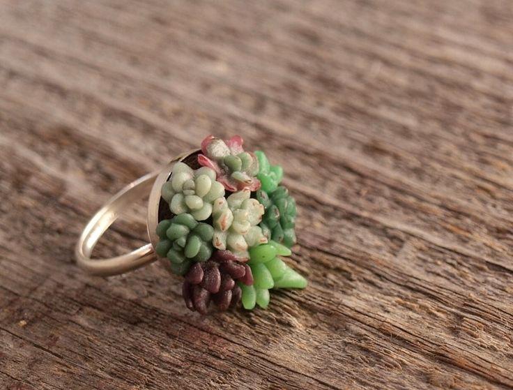 Ring Succulent Garden. via Etsy.