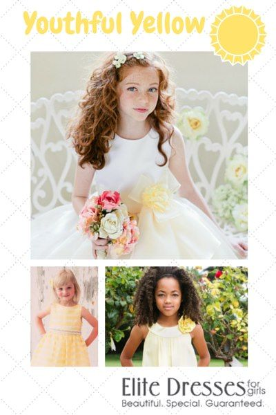 Ideal Dresses for a color themed weddings. Yellow is so bright and cheerful. Save up to 50% off retail price. Variety of styles to choose from. Shop Now at EliteDresses.com