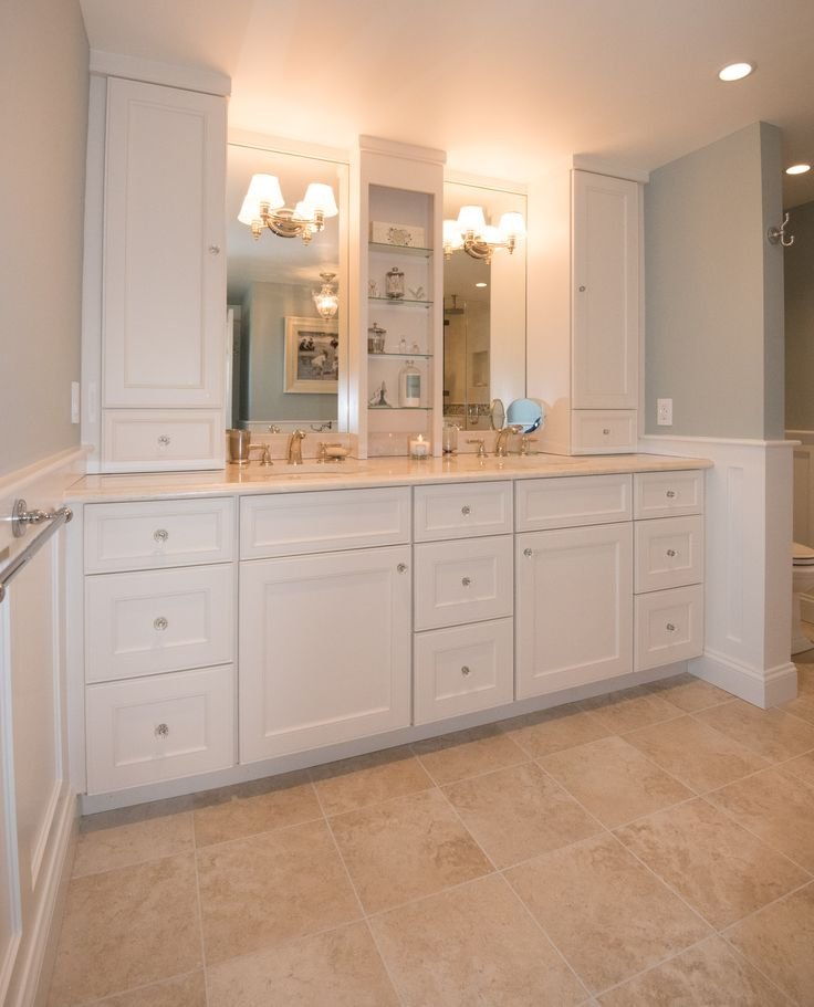 This Double Vanity Has Truly Maximized Storage With Tall