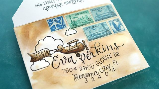 Custom Envelope Watercoloring – Monthly Mail Art – July 2017 | Simon Says Stamp Blog! | Bloglovin'