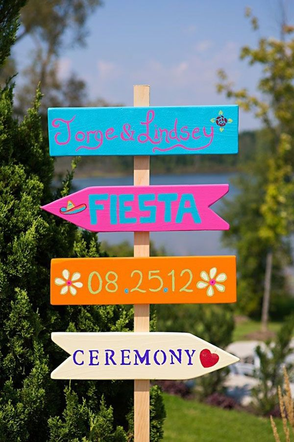 Cute mexican themed wedding sign