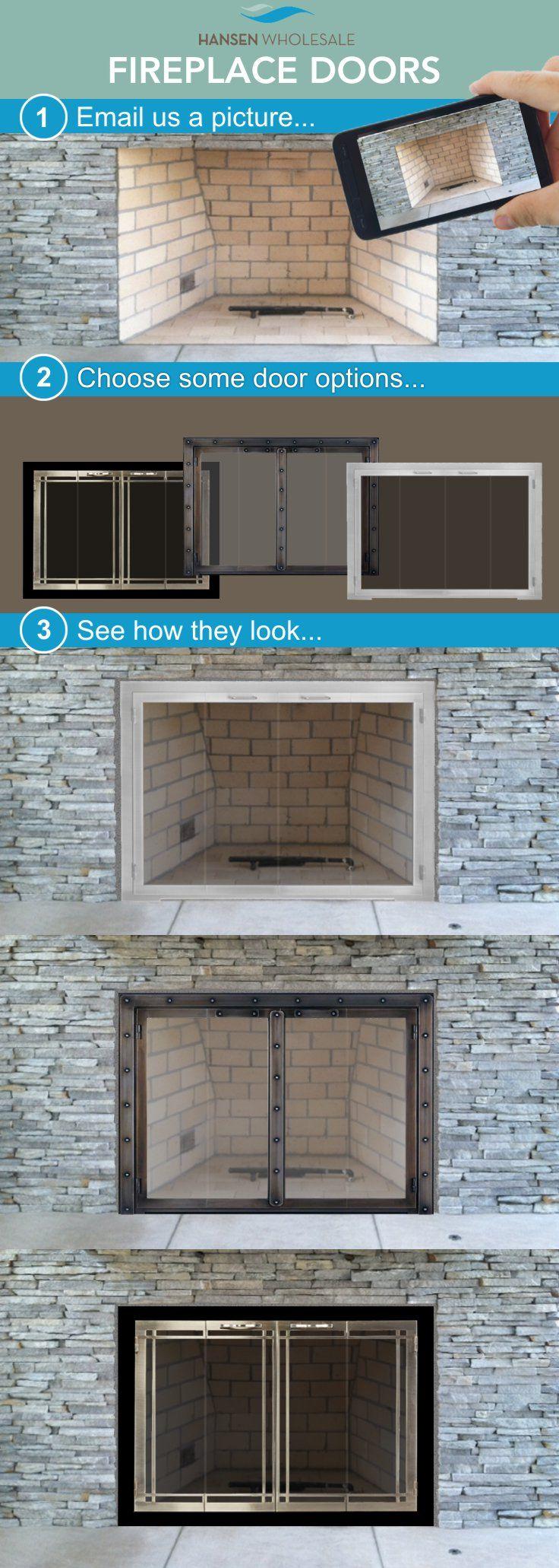 best 25 fireplace glass doors ideas on pinterest tv with
