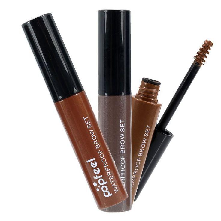Waterproof  4 Colors Eyebrow Mascara Cream Eye Brow Shadow Makeup Set Kit Dye Eyebrow Gel Enhancer