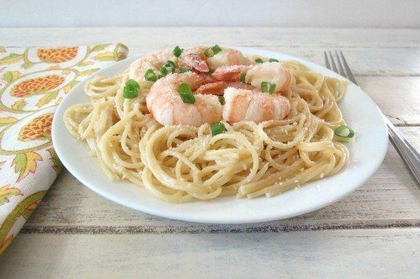 Лимонные спагетти с креветками / Новые дети