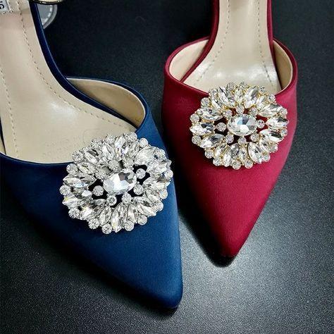 Pimp My Shoes - Decoración de zapatos mujer Silver & Clear Crystal KaTAZl