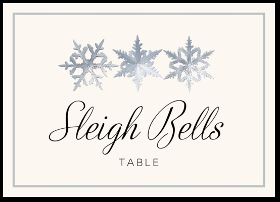 Snowflake Pattern Winter and Holiday Wedding Table Names