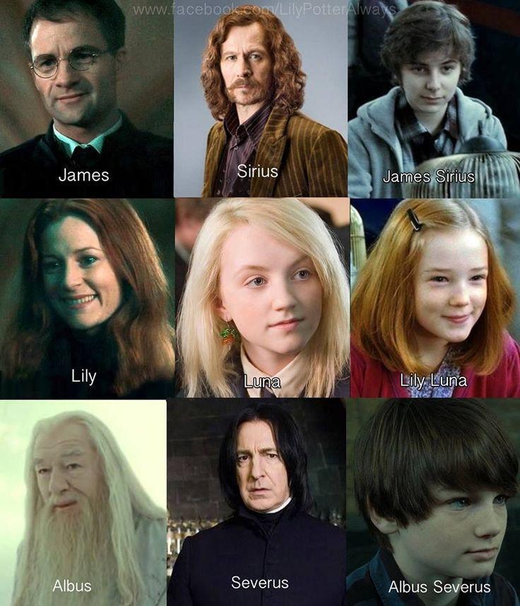 James Sirius, Lily Luna, Albus Severus More