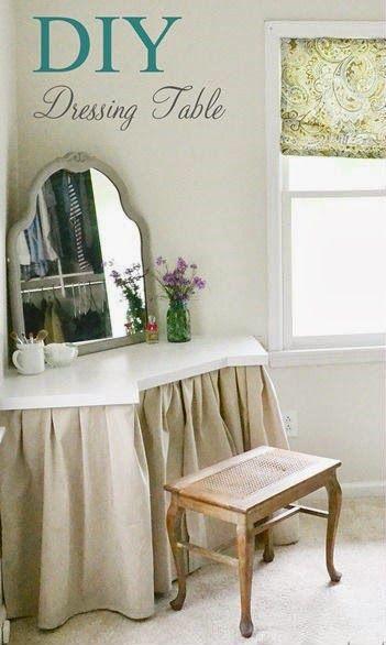 KoloDIY Decor: Угловой туалетный столик своими руками