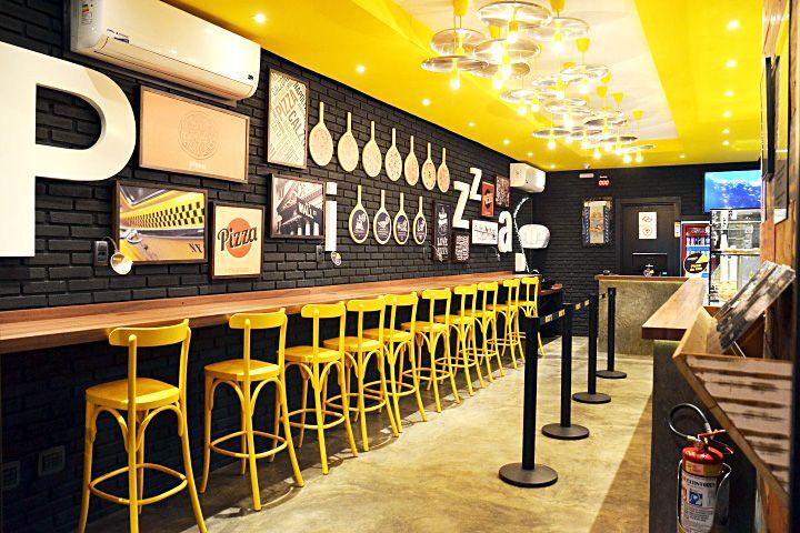 Дизайн интерьера пиццерии Nick's Pizza в Бразилии от Loko Design