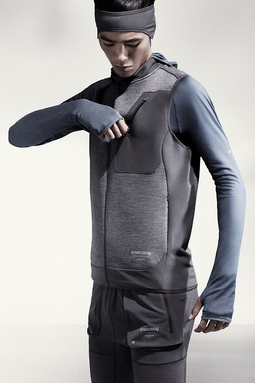 Nike x Undercover Gyakusou 2014 Holiday collection is set to turn running apparel on it's head as designer and runner Jun Takahashi applies some revolutionary thinking to the modern runners uniform. View more images on WGSN's Active Ingredients blog.