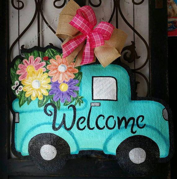 Style Vintage adorable camion remplie de par ConnieRisleyCrafts