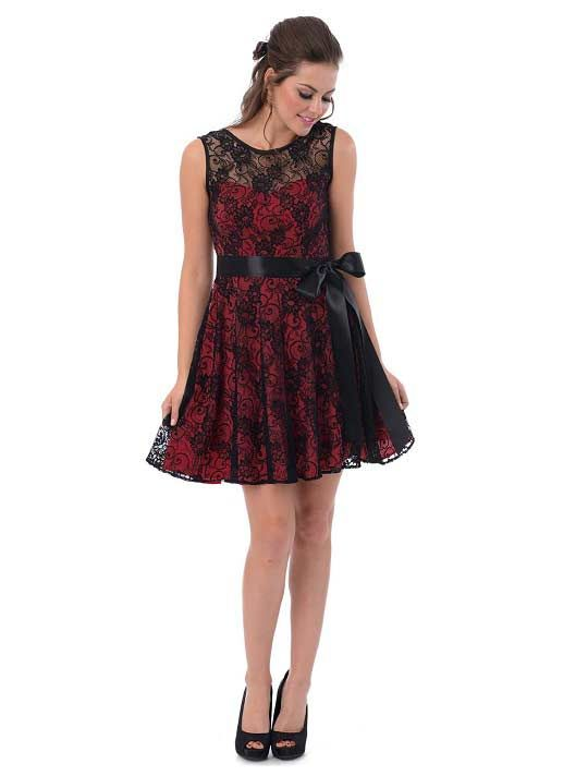 Unique red and black lace semi formal prom homecoming party dresses for juniors