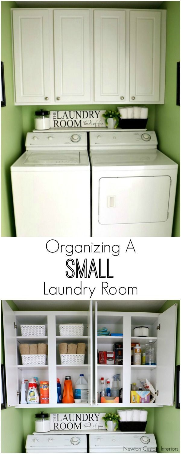 Laundry room wall decor pinterest - Organizing A Small Laundry Room