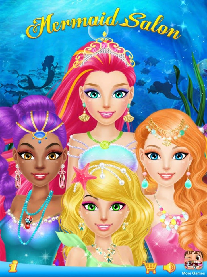 Mermaid Salon App by Libii Tech Limited. Kids game makeover apps.