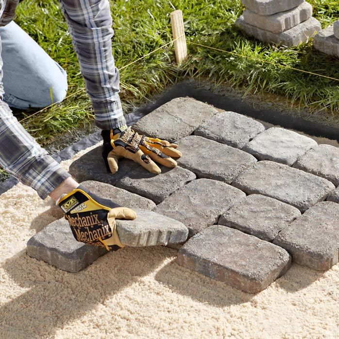 install pavers example for space and materials - Patio Materials