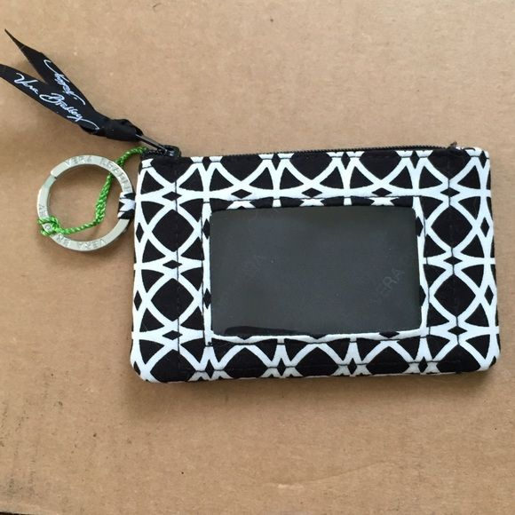 Vera Bradley id holder Super cute black and white id holder. Perfect for college, work, or on a lanyard. Pattern: Night and Day Vera Bradley Accessories Key & Card Holders