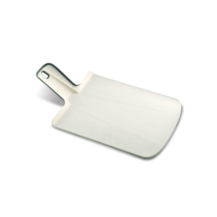 Joseph Joseph Chop2Pot Plus Foldable Plastic Cutting Board & Kitchen Prep Mat, Small, White