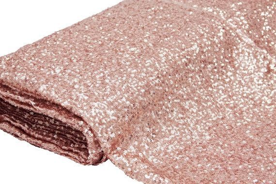 60 Ft. Fabric Bolt Pink Blush Sequin Cloth by SparkleSoiree