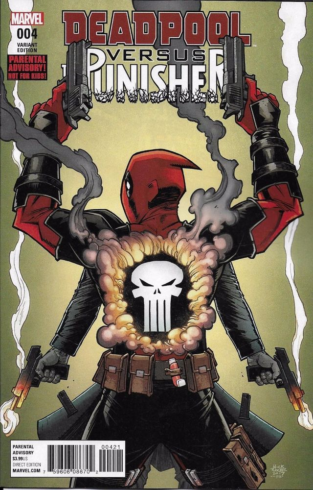 Marvel Deadpool vs The Punisher comic issue 4 Limited variant