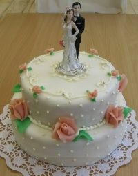 svatební dort 2 patra 1355
