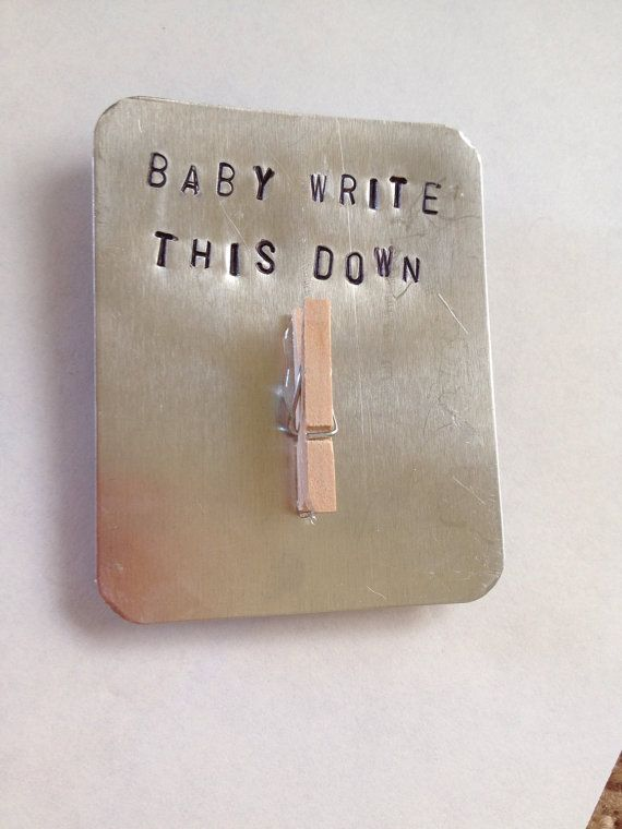 Hand Stamped metal magnet with clothespin used to hold paper, George Strait song lyrics