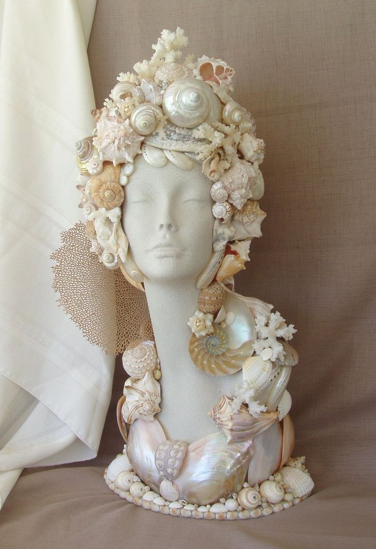 Bust seashell Mannequin head.....this would look great on a bust.